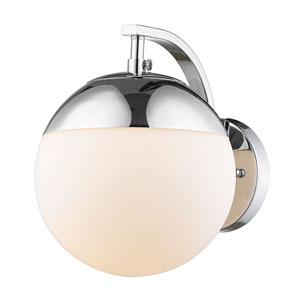 Dixon Chrome One-Light Bath Sconce