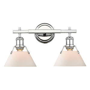 Orwell Chrome Two-Light Bath Vanity