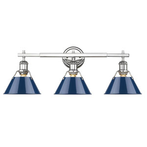 Orwell Chrome Three-Light Bath Vanity