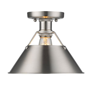 Orwell Pewter One-Light Flush Mount with Pewter Shade