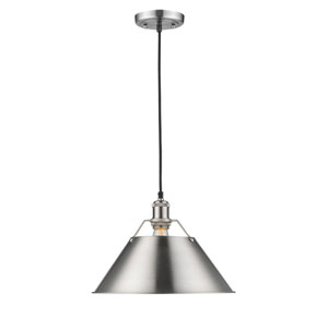 Orwell Pewter One-Light Pendant with Pewter Shade