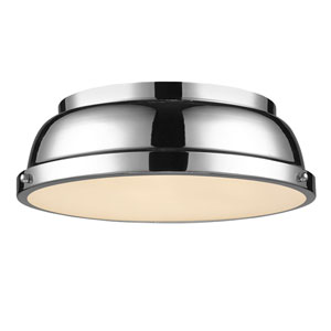 Duncan Chrome Two-Light Flush Mount