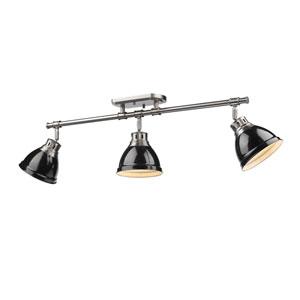 Duncan Black and Pewter Three-Light Track Light