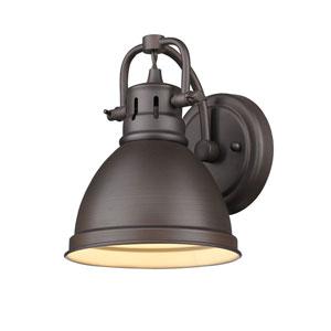 Duncan Rubbed Bronze One-Light Seven-Inch Vanity Fixture