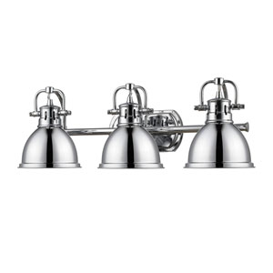 Duncan Chrome Three-Light Vanity Fixture