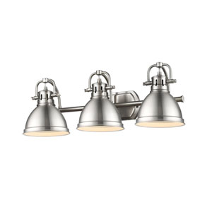 Duncan Pewter Three-Light Vanity Fixture