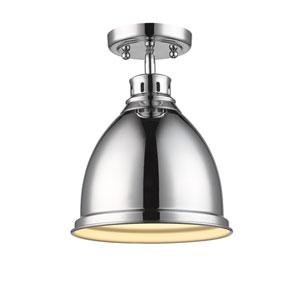 Duncan Chrome One-Light Semi-Flushmount