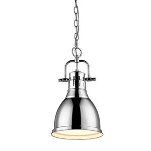 Duncan Chrome 8.875-Inch One Light Mini Pendant
