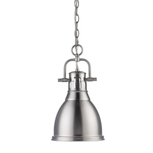 Duncan Pewter 8.875-Inch One Light Mini Pendant
