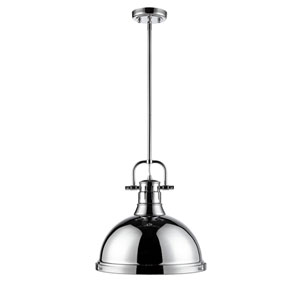 Duncan Chrome One-Light Pendant with Chrome Shade