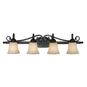 Belle Meade Rubbed Bronze Four-Light Bath Fixture