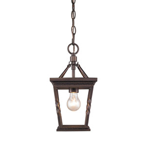 Davenport Etruscan Bronze One-Light Mini Pendant