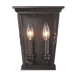 Davenport Etruscan Bronze Two-Light Wall Sconce