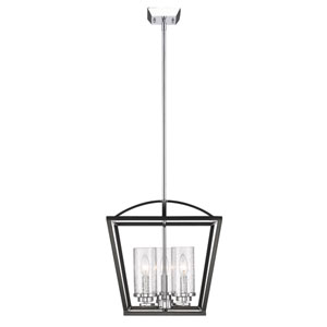 Mercer Black Three-Light Foyer Pendant