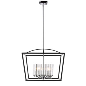 Mercer Black Five-Light Foyer Pendant