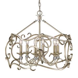Colette White Gold Six-Light Pendant