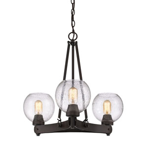 Galveston Rubbed Bronze Three-Light Chandelier