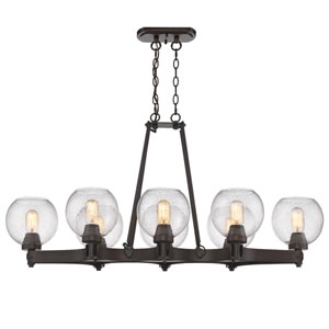 Galveston Rubbed Bronze Eight-Light Chandelier