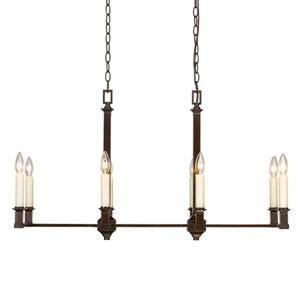 Bradley Cordoban Bronze Eight-Light Linear Pendant