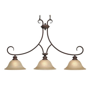 Lancaster Rubbed Bronze Island Light
