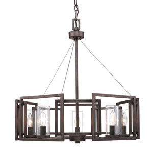 Marco Five-Light Bronze Chandelier