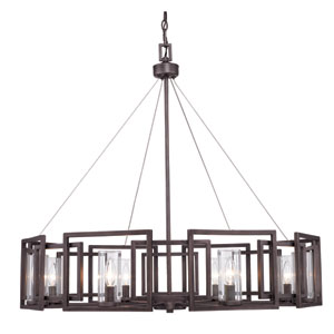 Marco Eight-Light Bronze Chandelier