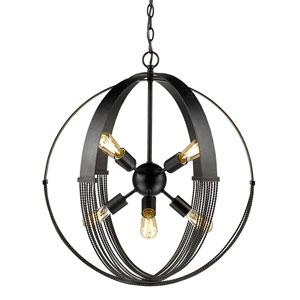 Carter Aged Bronze Eight-Light Pendant