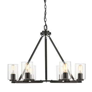 Monroe Black Six-Light Chandelier
