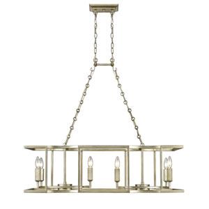 Bellare White Gold Eight-Light Linear Pendant