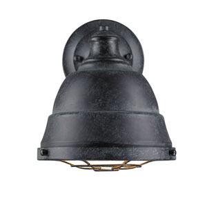 Bartlett Black Patina One-Light Cage Wall Sconce
