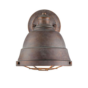 Bartlett Copper Patina One-Light Cage Wall Sconce