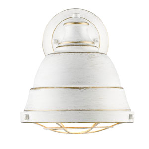Bartlett French White One-Light Wall Sconce with French White Shade