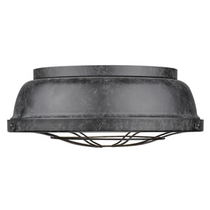 Bartlett Black Patina Two-Light Cage Flush Mount