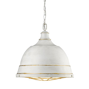 Bartlett French White Two-Light Pendant with French White Shades