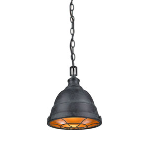 Bartlett Black Patina One-Light Cage Mini Pendant