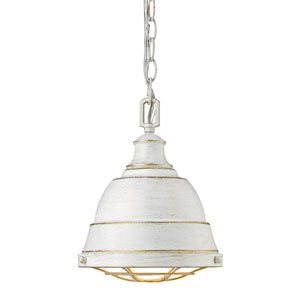 Bartlett French White One-Light Mini Pendant with French White Shade
