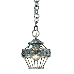 Ferris Blue Verde Patina One-Light Mini Pendant