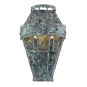 Ferris Blue Verde Patina Two-Light Sconce