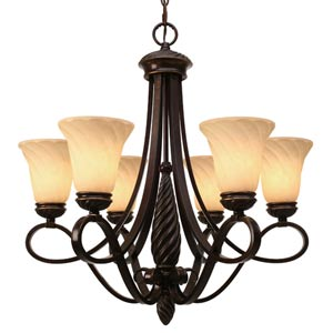 Torbellino Six-Light Chandelier