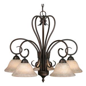 Homestead Rubbed Bronze Five-Light Nook Chandelier