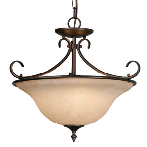 Homestead Rubbed Bronze Convertible Semi-Flush Ceiling Light