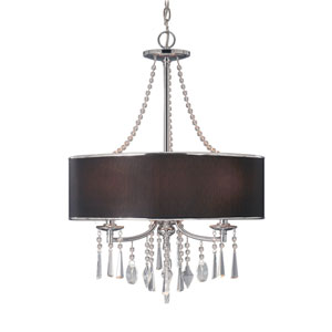 Echelon Chrome Three-Light Pendant with Tuxedo Shade