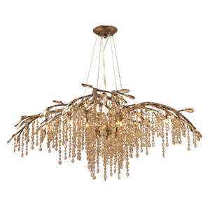 Autumn Twilight Mystic Gold 12-Light Chandelier