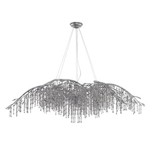 Autumn Twilight Mystic Silver 24 Light Chandelier