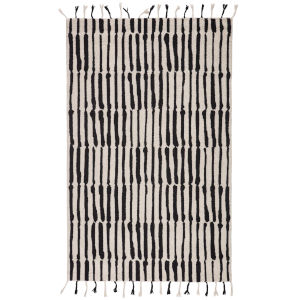 Vera By Nikki Chu Black 5 Ft. x 8 Ft. Rectangular Rug