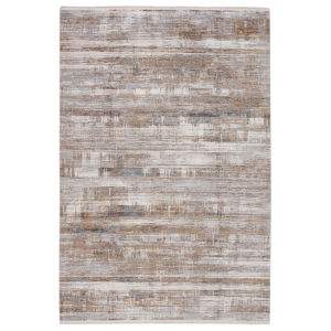 Lavigne Denman Abstract Gray and Gold 8 Ft. x 11 Ft. Area Rug