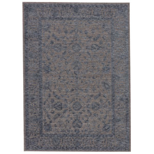 Raveen Indio Oriental Blue and Gray 7 Ft. 6 In. x 9 Ft. 6 In. Area Rug