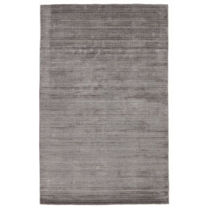 Second Sunset Gradient Solid Gray and Silver 8 Ft. x 10 Ft. Area Rug