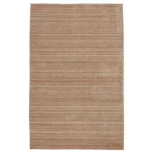 Second Sunset Gradient Solid Tan and Beige 8 Ft. x 10 Ft. Area Rug