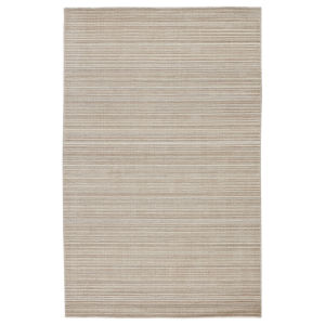 Second Sunset Gradient Solid Gray and Light Taupe 8 Ft. x 10 Ft. Area Rug